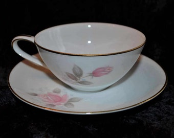 Noritake China Roseville Tea Cup & Saucer Set