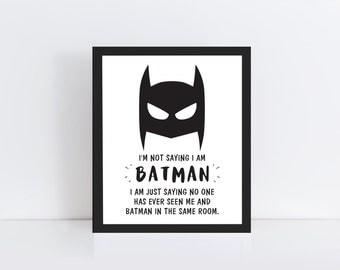 Superhero Wall Print - Superhero Nursery Art - Superhero Printable Art - Superhero Print - Superhero Wall Art - Superhero Room Decor