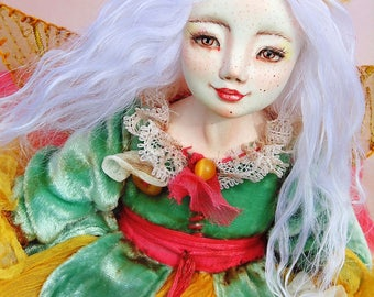 "OOAK art doll ""Rose"" flower fairy, 25 cm, ooak, doll, art doll, fairy, flower, fairy tale"