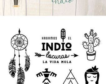 Clear Scrapbooking Stamps Indio, in Spanish