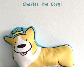 Charles the Royal Corgi Cushion
