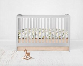 Straight Crib Skirt - Linen Cotton - Blush. Baby Bedding. Crib Bedding. Crib Skirt. Peach Crib Skirt. Blush Crib Skirt. Flat Crib Skirt.