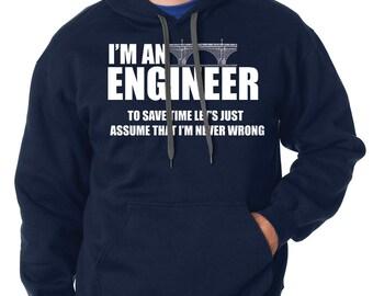 Engineer Hoodie Funny Occupation Hooded Sweater Gift For Engineer Sweatshirt