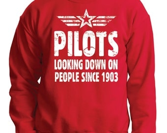 Pilot Sweater Gift For Pilot Funny Aviator Sweatshirt