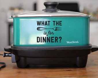 What the Fork is Fun Dinner: Funny Kitchen Appliance Decal