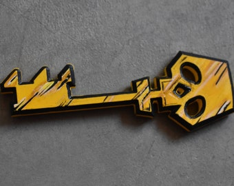 SALE Borderlands Cosplay Replica Golden Chest Key 3D Printed PLA Plastic Cel Shaded Skeleton Border Lands 3D Print Vault Hunter Cos Play Key