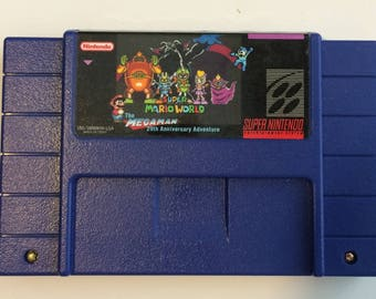 Super Mario World - The Mega Man 29th Anniversary Adventure - BLUE cart