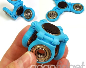 steel bearings fidget spinner. gogofidget flexx light blue folding fidget spinner steel or ceramic center bearing and cap set - bearings g