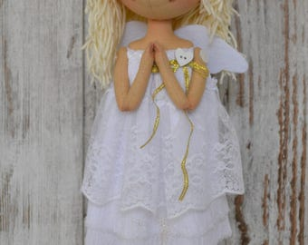 Angel. Cloth doll. Rag doll. Textile doll.