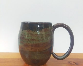 Bubble Mug in Sage and Pine #1