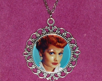 I Love Lucy Inspired Silver Cameo Necklace