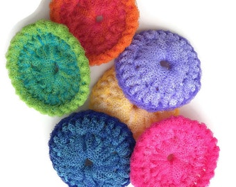 Nylon Pot Scrubber, 6 Colorful Dish Scrubbies, Pot Scrubbers, Dish Scrubber, Kitchen, Crochet Pot Scrubber, Nylon Scrubbies, Scrubbies, Gift
