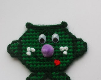 Midori Whimsical Polymer Clay Character Plastic Canvas Magnet