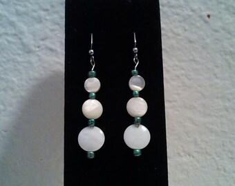 Beautiful Pressed Pearl Dangle Earrings