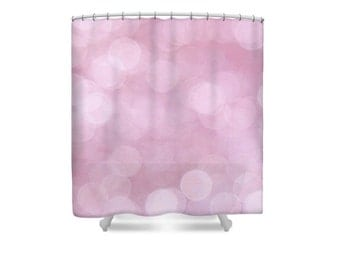 Pink Shower Curtain, Pink Bathroom, Abstract Shower Curtain, Pink Decor, Bathroom Decor, Modern Decor, Pastel Decor, Feminine Decor