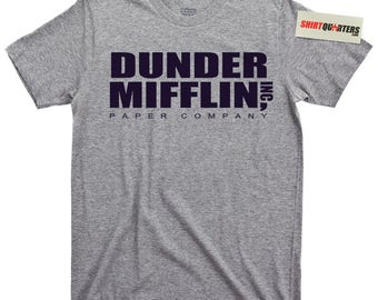 The Office Dunder Mifflin Inc Corporation Incorporated Paper Company Wernham Hogg TV Show UK ricky gervais Michael Scott Space T Shirt