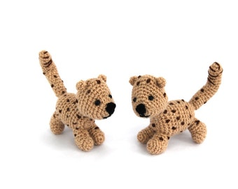 miniature cheetah, amigurumi cheetah baby, crochet toy, little gepard, crochet cheetah, tiny amigurumi, woodland funny, gift for kids
