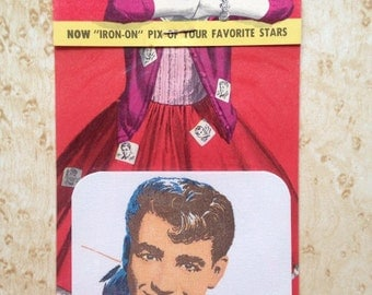 Vintage Mid Century 1950s Deadstock American Jimmie Rodgers iron-on patch for clothing. Teen idol, Rock and Roll!