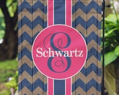 Personalized Garden Flag - Rustic Chevron - Personalized Yard Flag - Garden Flag - Wedding Gift - Housewarming Gift - Double Sided Flag