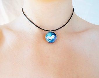 unicorn necklace , unicorn jewelry , unicorn charm , unicorn charm , unicorn choker