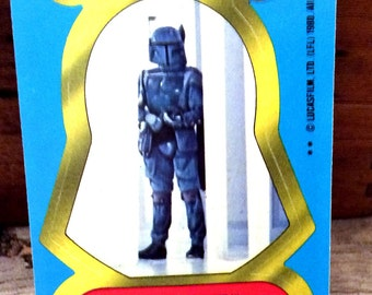 Vintage Antique Retro Estate 1980 Topps Empire Strikes Back Empire Forces Star Wars Boba Fett #57 Trading Card Sticker