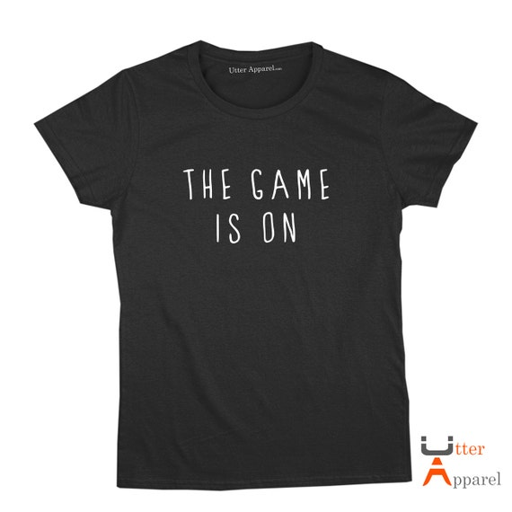 "Sherlock Holmes (Ladies or Unisex Tee), ""The Game Is On""  T shirt - sizes S-2XL, other colours available"