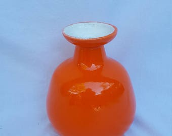 Mid-Century Modern Orange Jaru California Pottery Vase