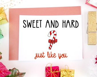 Sexy Christmas Card, Boyfriend Christmas Card, Mature Christmas Card, Naughty Christmas Card, Funny Christmas Card, For Him, For Husband