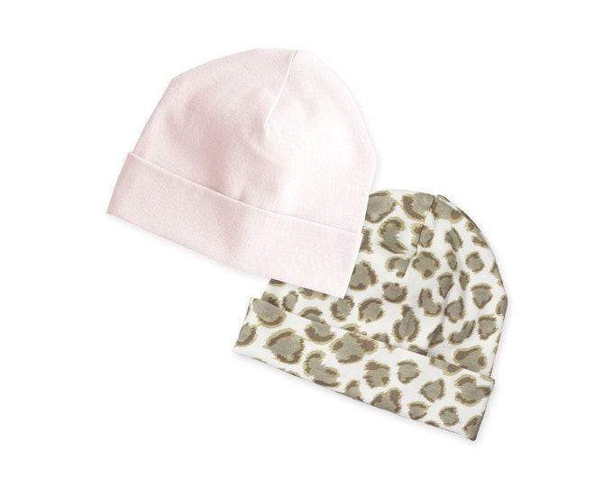 SALE! Baby Girl Hat, Baby Hat for Girls, Baby Girl Beanie, Newborn Girl Hat, Pink, Leopard, Animal Prints, TesaBabe, Tesa Babe
