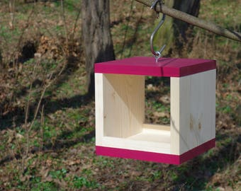 BIRD FEEDER - Rubikus Burgundy