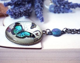 Big Butterfly Pendant Insect Necklace Buterfly Jewelry Buterfly Necklace Holographic Butterfly Gift Popular Necklaces Butterflies Lover Gift