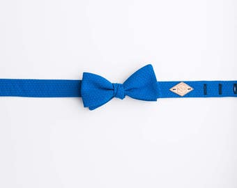 Royal Blue Bow Tie, Handmade Bow Tie, Cotton bow tie, Blue Cotton Bow tie, Bright Blue Bow Tie, Pick Stitch in Royal Bow Tie