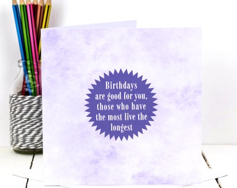 Funny Birthday Card; Purple Birthday Card; Funny Birthday Card Friend; Friend Birthday Card; GC419