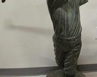 """Vintage Jim Davidson 44"""" Bronze Sculpture """"The Golfer"""" 34/500 Signed"""
