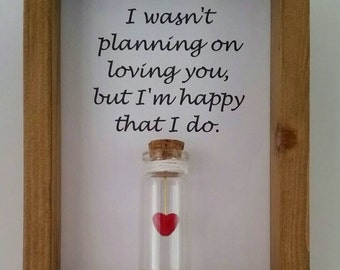 Cute gift for, boyfriends,  girlfriends, wives, husbands. I love you gifts. Can be personalised with names or your own message.