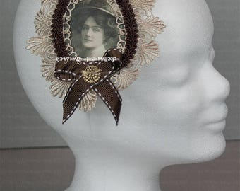 Extraordinary hair clip/brooch for the steampunk ladies