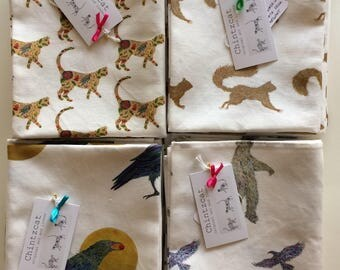 Tea-towels, animal designs