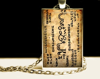 It helps to understand dreams and visions, knowledge talisman, The Sixth Seal, 6th & 7th Book of Moses pendant, occult necklace #395.6