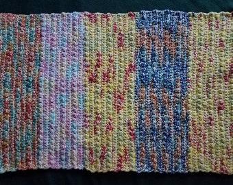 Ecclectic Crochet Rug Handmade Cotton