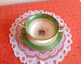 Gorgeous vintage Aynsley bone china England cream bowl