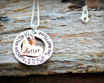 Personalized Mom Necklace - Hand Stamped Necklace - Personalized Jewelry - Mom Necklace - New Mother Necklace - I'd pick you everytime Mom