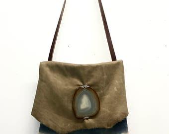 Indigo Dyed Crossbody, Indigo Handbag, Boho Crossbody