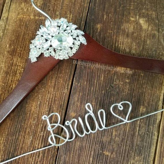 Bride hanger wedding dress hanger name hanger wedding for Wedding dress hanger name