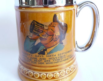 Lord Nelson Pottery England Thirsty Days Beer Mug Tankard