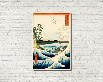 Andō Hiroshige, Japanese Art, Old Masters Fine Art Print : The Sea at Satta, Classical Art Iconic Landscape