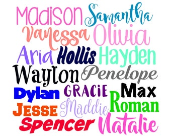 Personalized Vinyl Name Decal Sticker || Any Name Decal - Any Word Decal - Custom Vinyl Decal - Name Decal - Vinyl Name Decal - Name Label