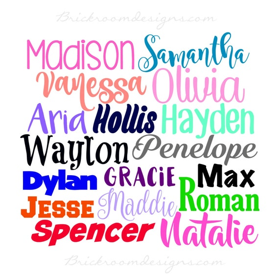Personalized Vinyl Name Decal Sticker Any Name Decal Any - Custom made vinyl stickers