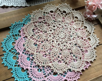 Crochet doily, different colors to choose from, 8 1/2""