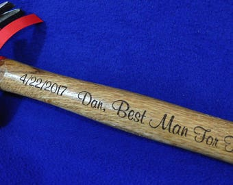 Best Man Gift ~ Groomsmen Gift ~ Engraved Hammer ~ Personalized Groomsmen Gift ~ Wedding Party Gifts ~ Custom Groom Gift ~ Groomsmen Gifts ~