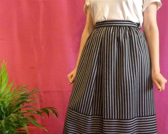 vintage with stripes midi skirt